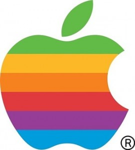 Apple Rainbow Logo     (1976-1998)