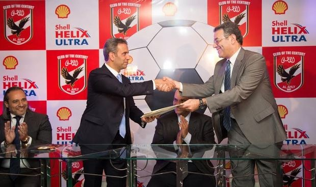 Shell Lubricants Egypt sign with the Board of Director of Al-Ahly Club a sponsorship contract for the first football team