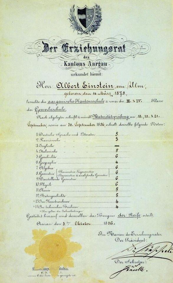 Albert Einstein; The Moderate Pupil
